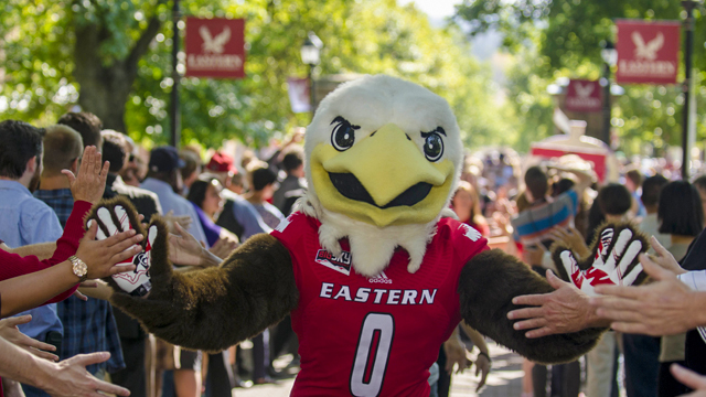 Swoop at a pep rally